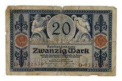 Segno di Zwanzig Fotografia Stock Libera da Diritti