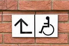 Segno disabile Fotografie Stock
