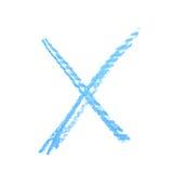 Segno disegnato a mano di X isolato Immagine Stock Libera da Diritti
