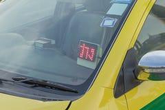 Segno disponibile del taxi della Tailandia Immagine Stock
