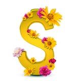 Segno dorato del dollaro Fotografia Stock Libera da Diritti