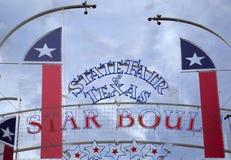 Segno e bandiere giusti del Texas dello stato Fotografie Stock