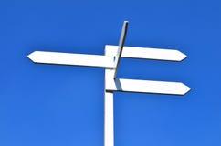 Segno e cielo blu Fotografia Stock Libera da Diritti