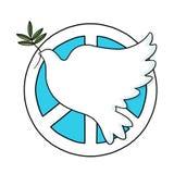 Segno e colomba di pace Immagine Stock Libera da Diritti