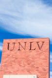 Segno e logo della città universitaria all'università di Nevada Fotografia Stock