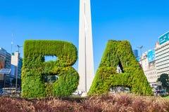 Segno e Obelisco di Buenos Aires immagine stock libera da diritti