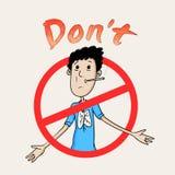 Segno e simbolo contro il fumo per il giorno non fumatori Fotografia Stock Libera da Diritti
