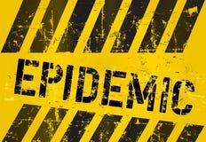 Segno epidemico Fotografie Stock Libere da Diritti