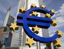Segno euro Immagini Stock Libere da Diritti