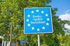 Segno Europa/Bundesrepublik Deutschland Immagine Stock Libera da Diritti
