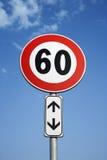 Segno europeo di limite di velocità immagine stock libera da diritti