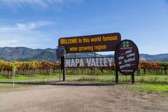Segno famoso di Napa Valley Immagine Stock Libera da Diritti