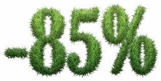 -85% segno, fatto di erba Illustrazione Vettoriale