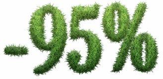 -95% segno, fatto di erba Immagine Stock Libera da Diritti