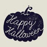 Segno felice di calligrafia di Halloween Fotografia Stock Libera da Diritti