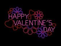 Segno felice di giorno dei biglietti di S. Valentino Fotografia Stock