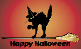 Segno felice di Halloween Fotografia Stock Libera da Diritti