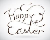 Segno felice di Pasqua. Fotografie Stock Libere da Diritti