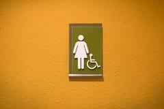 Segno femminile della toilette Immagine Stock Libera da Diritti