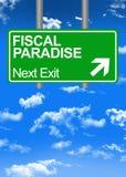 Segno fiscale di Paradise Road illustrazione di stock