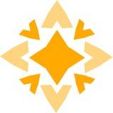 Segno a forma di stella giallo Immagini Stock Libere da Diritti
