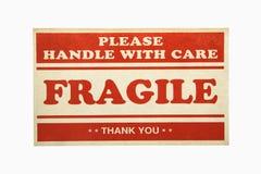 Segno fragile. Immagini Stock
