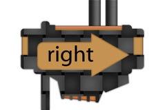 Segno - freccia - di destra Fotografia Stock Libera da Diritti
