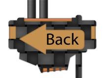 Segno - freccia - posteriore Fotografia Stock