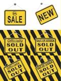Segno fuori venduto Fotografia Stock Libera da Diritti