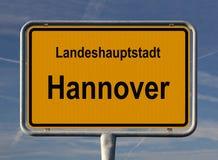 Segno generale dell'entrata della città di Hannover Fotografia Stock Libera da Diritti