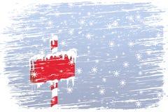 Segno ghiacciato in bianco illustrazione di stock