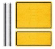 Segno giallo fotografia stock