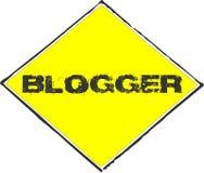 Segno giallo del Blogger Immagini Stock Libere da Diritti