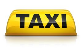 Segno giallo del taxi illustrazione vettoriale