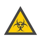 Segno giallo dell'icona di rischio biologico illustrazione di stock