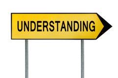 Segno giallo di comprensione di concetto della via illustrazione di stock