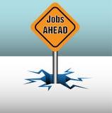 Segno giallo di job Immagini Stock