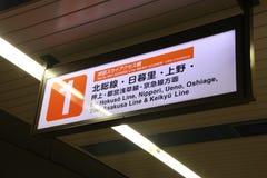 Segno giapponese del sottopassaggio fotografia stock libera da diritti