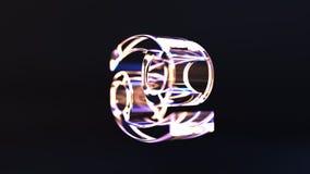 Segno girante dello zodiaco del Cancro di vetro, animazione loopable 3D illustrazione di stock