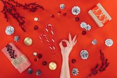 Segno giusto a christmastime immagini stock libere da diritti
