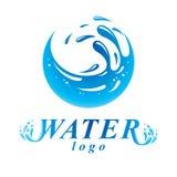 Segno globale di vettore di circolazione dell'acqua per uso come emblema di affari illustrazione vettoriale