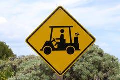 Segno golfcaddy fotografie stock