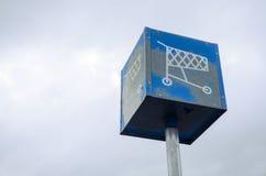 Segno Grungy dell'icona del carrello Fotografia Stock Libera da Diritti