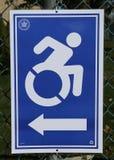 Segno handicappato di accesso al sito di voto a New York Immagini Stock Libere da Diritti