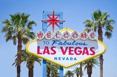 Segno il giorno soleggiato luminoso, Nevada di Las Vegas U.S.A. immagine stock