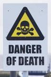 Segno, il pericolo della morte Fotografie Stock