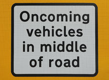 Segno imminente dei veicoli Immagini Stock Libere da Diritti