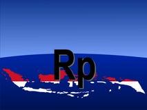 Segno indonesiano della rupia Fotografie Stock