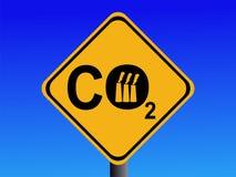 Segno industriale del CO2 Immagine Stock Libera da Diritti