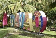 Segno insulare di Davao di lungomare Fotografia Stock Libera da Diritti